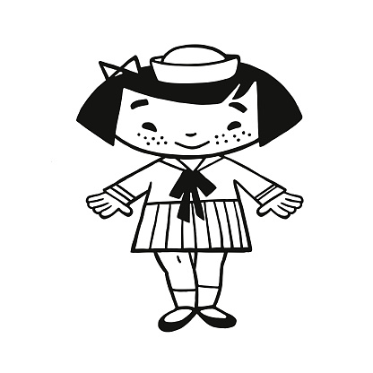 Girl Wearing Sailor Outfit