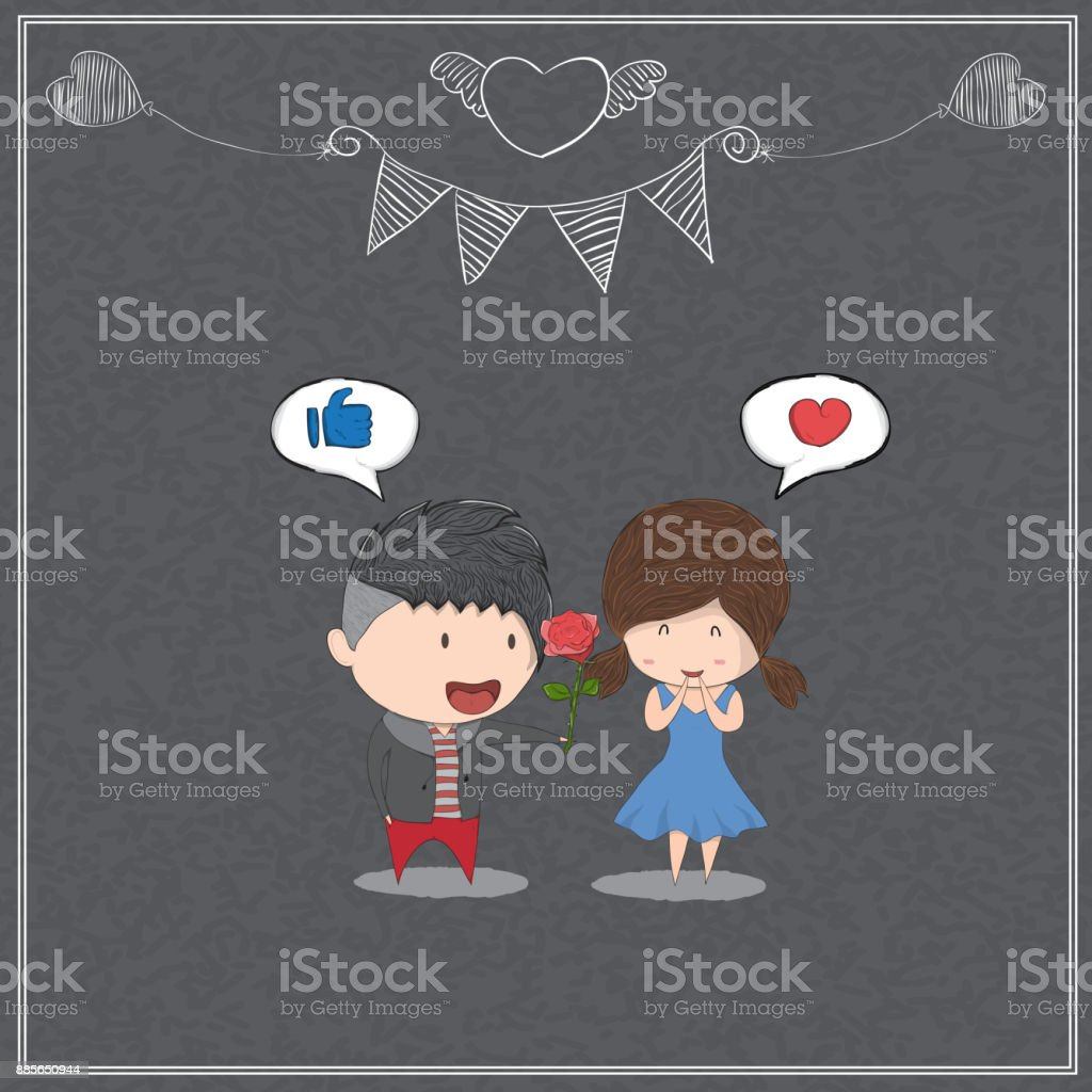 Girl with birthday cupcake blackboard background, drawing by hand vector vector art illustration