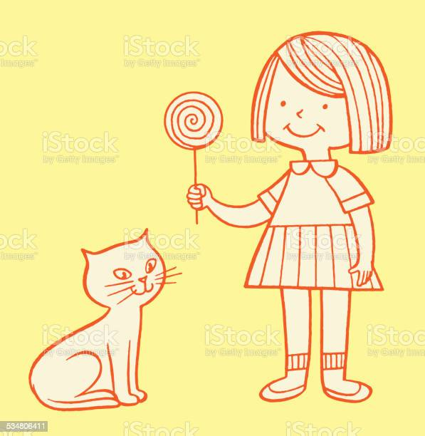 Girl with cat and lollipop vector id534806411?b=1&k=6&m=534806411&s=612x612&h=7yyeh np2cydg3aieyrcltwri0raixa 5evtp4f78i0=