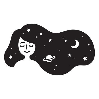 Girl with galaxy hair