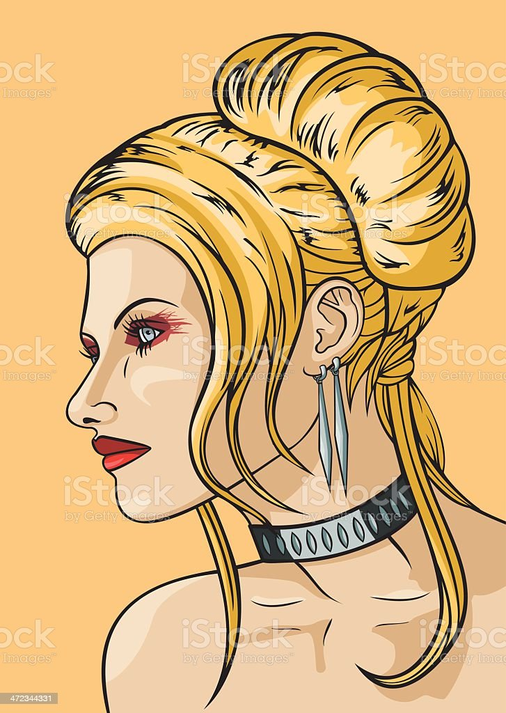 Girl with hairdress in the babetta style royalty-free girl with hairdress in the babetta style stock vector art & more images of adult