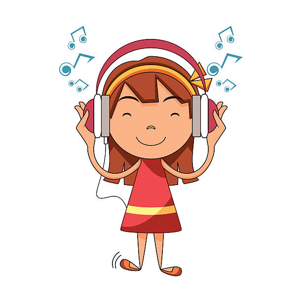 Royalty Free Listening To Music Clip Art, Vector Images ...