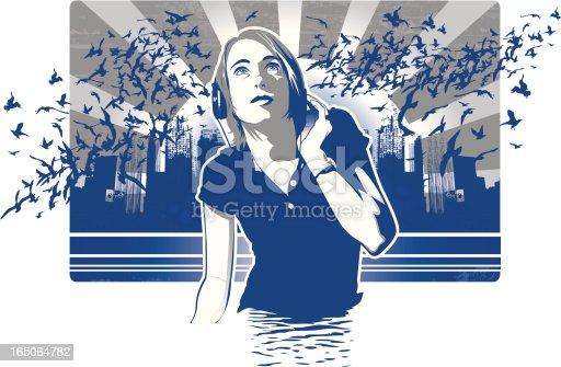 istock Girl with Headphones 165064782