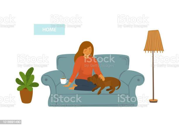Girl with her sleeping dog on sofa at home isolated vector scene vector id1018691490?b=1&k=6&m=1018691490&s=612x612&h=rtdn vbvq801vdll kmxibbo5fxlrj1dwajvx7rpva4=