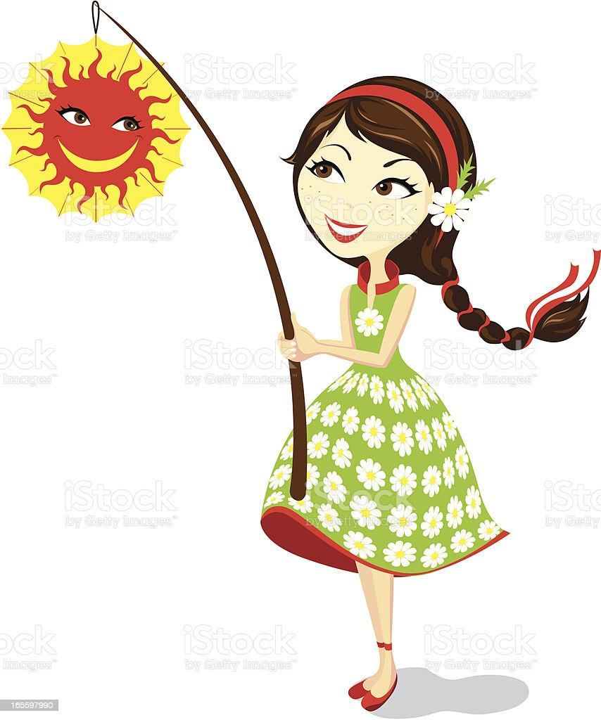 Girl with lantern royalty-free girl with lantern stock vector art & more images of adult
