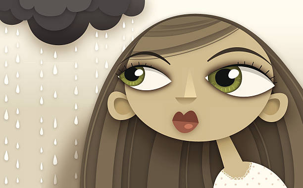 15 Cartoon Of The Brown Hair Green Eyes Girl Illustrations