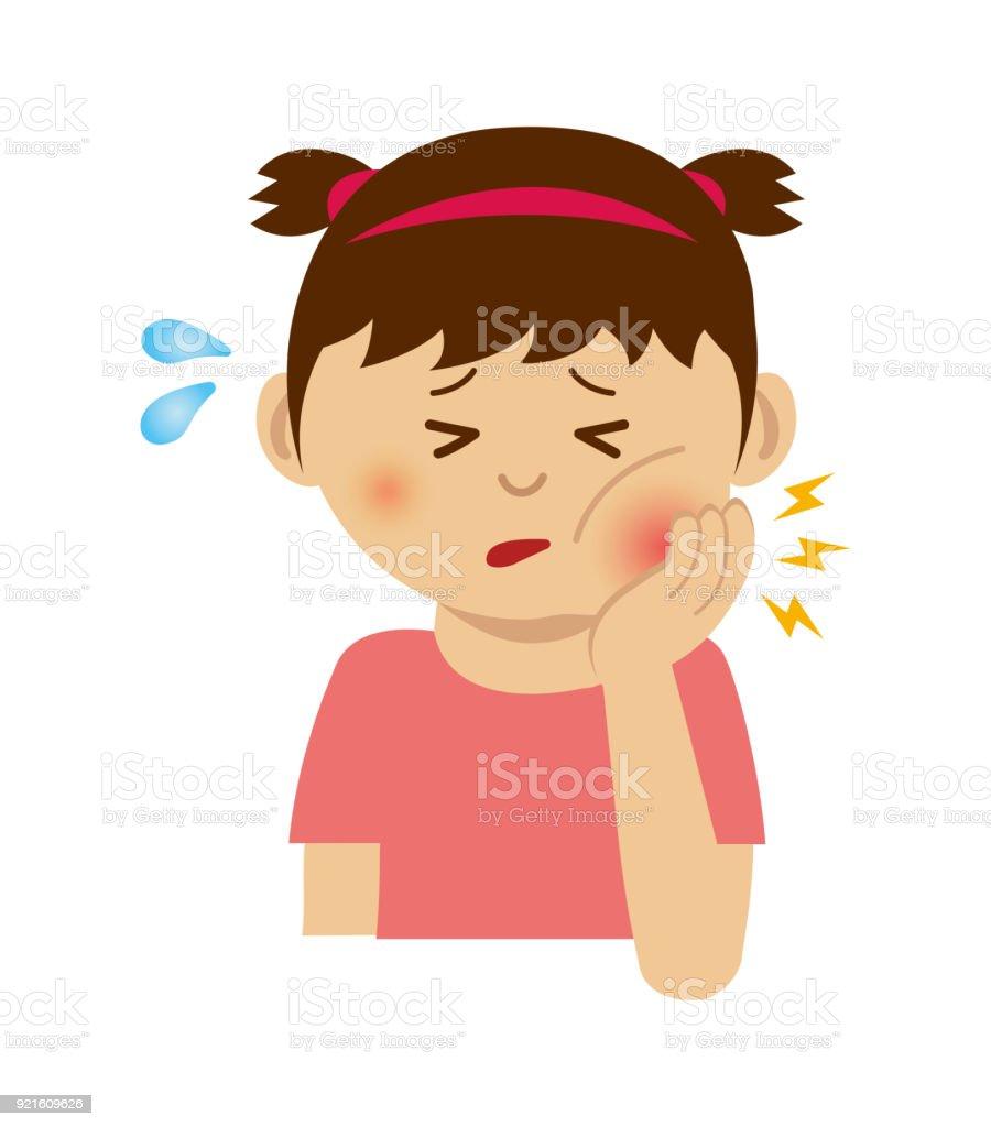 歯痛イラスト女の子 アイコンのベクターアート素材や画像を多数ご用意