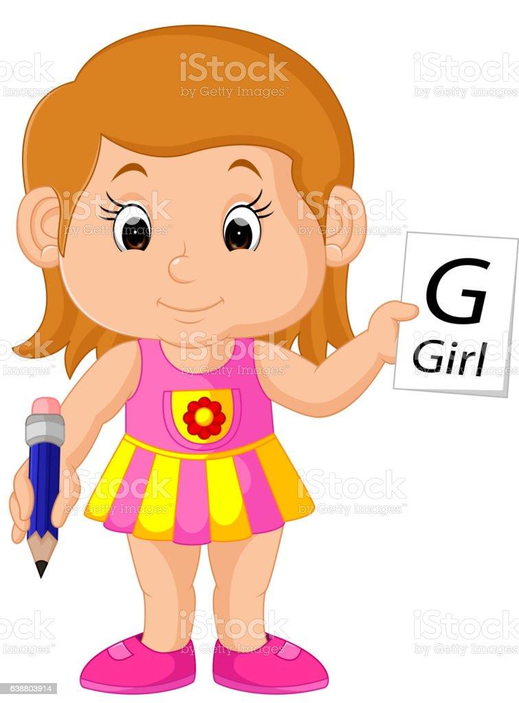 Girl Writing A Letter Stock Vector Art More Images Of Alphabet Rh  Istockphoto Com