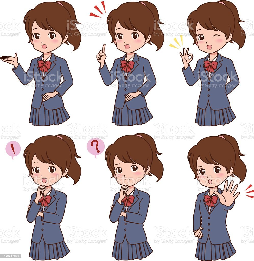 girl_pose vector art illustration