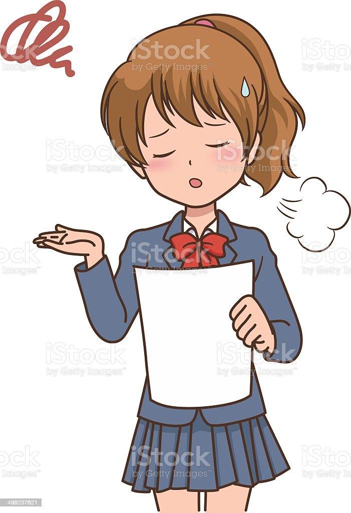 girl_test vector art illustration