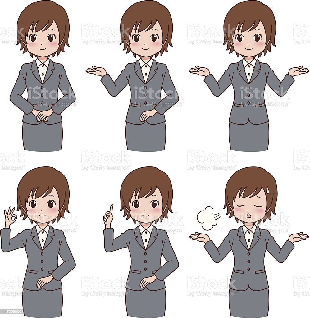 girl_variation royalty-free stock vector art