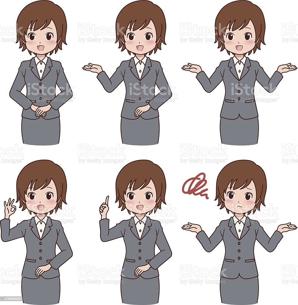 girl_variation royalty-free girlvariation stock vector art & more images of adult