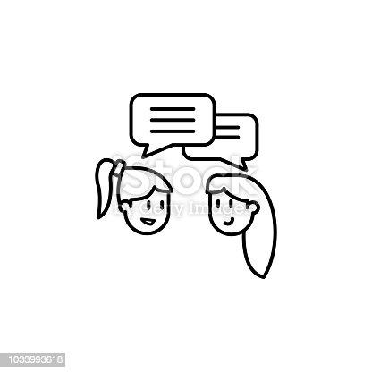 b98bda82a5 1033993618istock amigas hablan icono. Elemento de icono de amistad para  aplicaciones web y concepto.