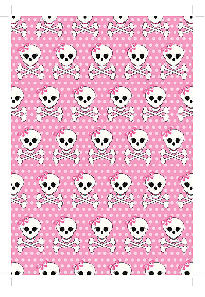 Best Girly Skull Wallpaper Illustrations Royalty Free