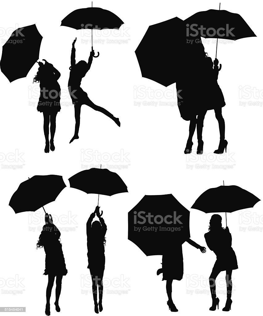 Silhouette Kind Regenschirm