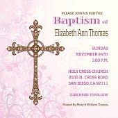 Girls Baptisim Invitation