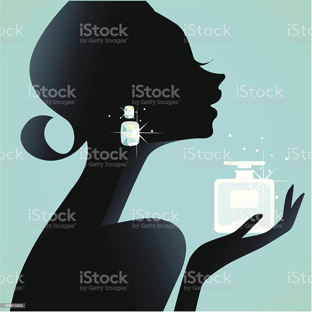 Girl's Best Friend (Perfume) vector art illustration