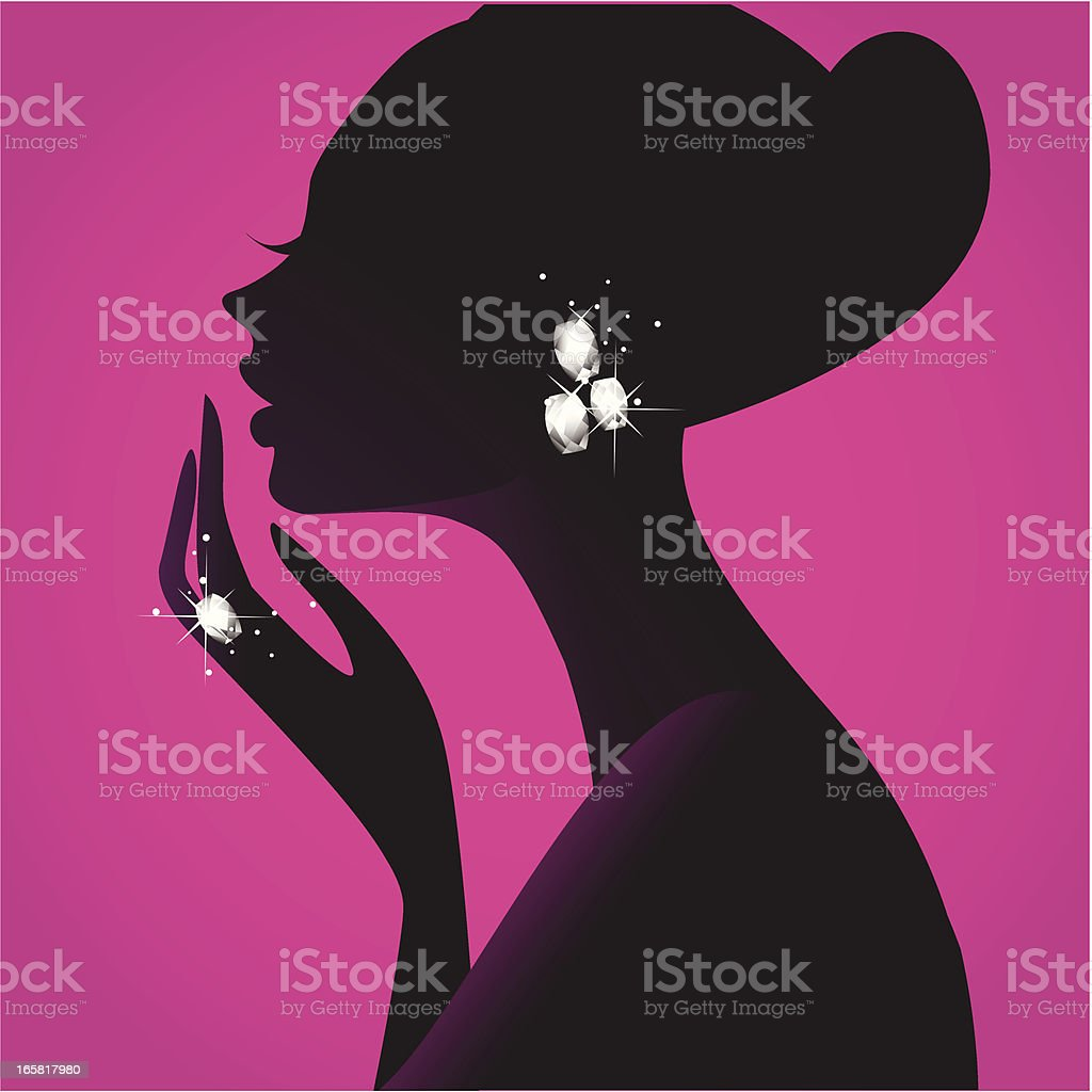 Girl's Best Friend (Diamonds) vector art illustration