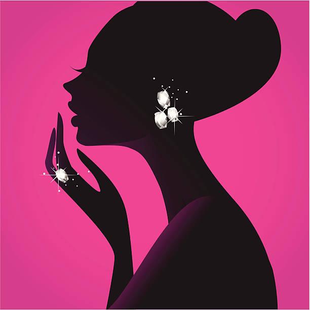 ilustraciones, imágenes clip art, dibujos animados e iconos de stock de girl el mejor amigo (diamantes - joyas