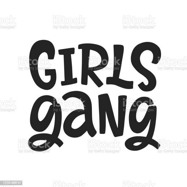 Hand drawn girl gang tote
