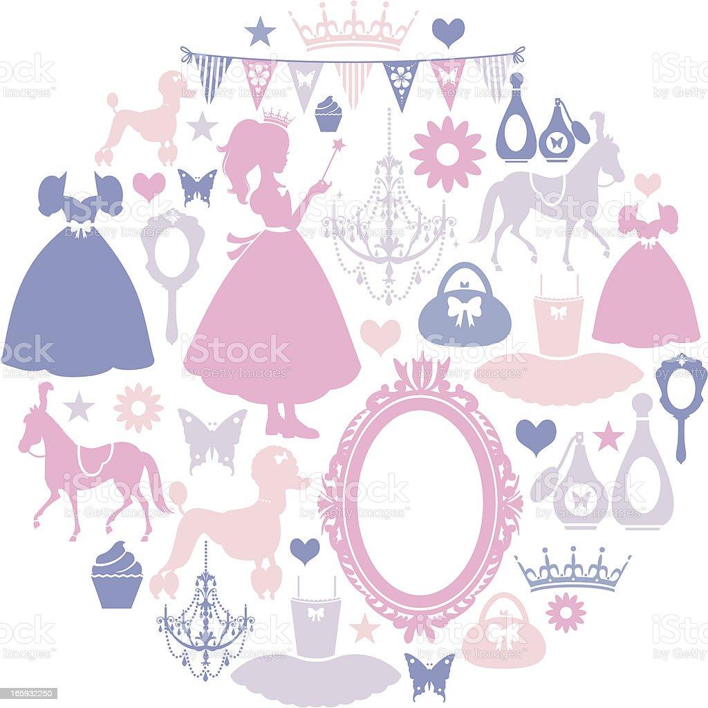 Girls Icon Set vector art illustration