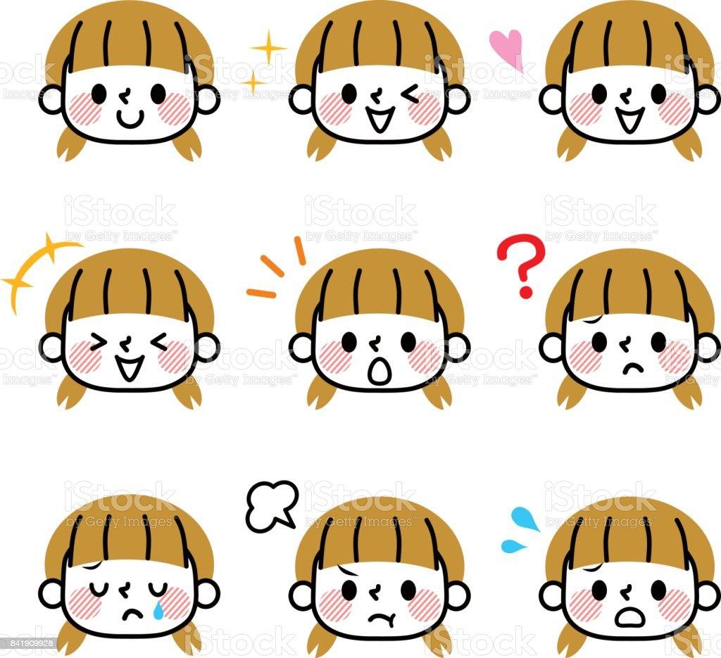 Icono de chicas - ilustración de arte vectorial
