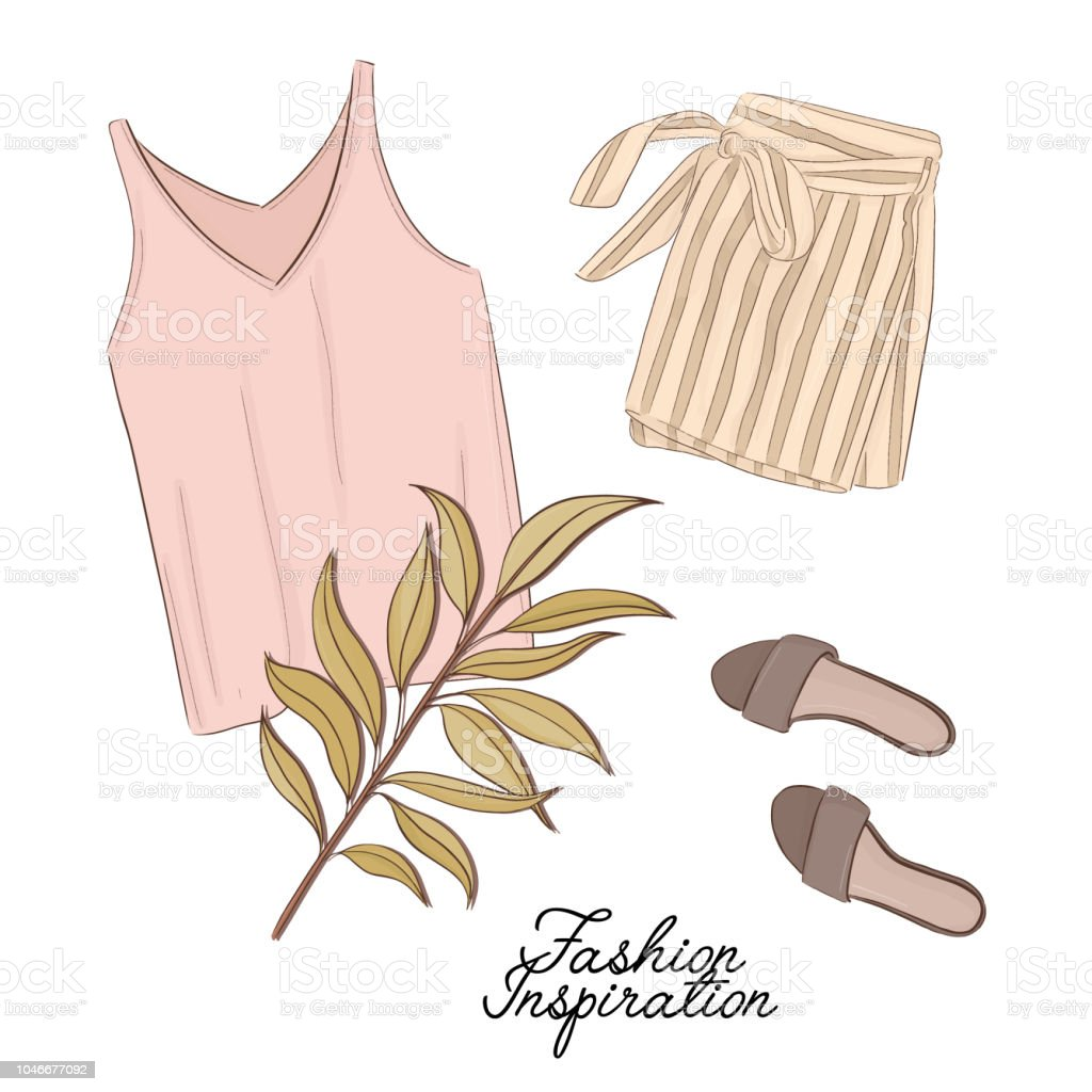 timeless design 8a262 96552 Mädchenoutlook Shorts Schuhe Und Top In Pastellfarben ...