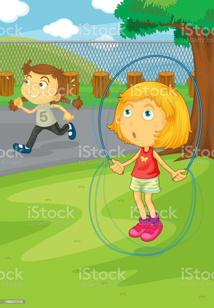 Girls playing in the park royalty-free girls playing in the park stock vector art & more images of activity