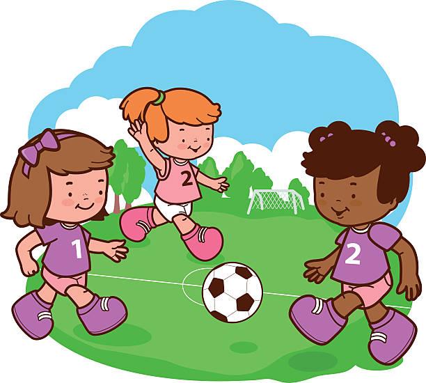 Kids Playing Soccer Clip Art - Kids Playing Soccer Image |Kids Playing Soccer Clipart