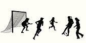 Girls Soccer Vector Silhouette