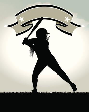 Girls Softball All-Star Background - Batter