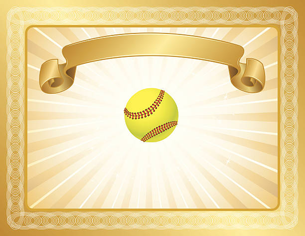 Royalty Free Softball Frames Clip Art, Vector Images & Illustrations ...