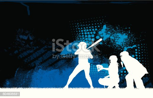 Graphic background Illustration of a Girls Softball Pitcher, All-Star. Check out my