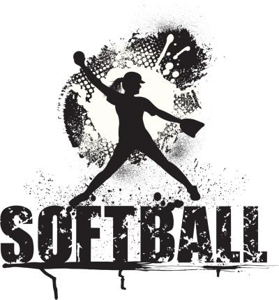 Girls Softball Pitcher Grunge Style - All-Star