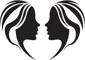vector file of girls symbol