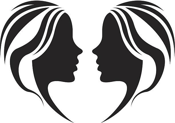 Girls symbol vector file of girls symbol beautiful people stock illustrations