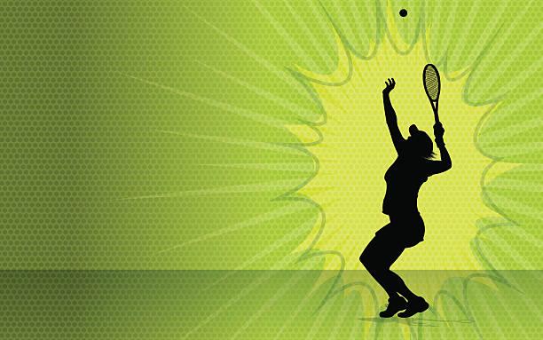 mädchen tennis burst hintergrund - wimbledon stock-grafiken, -clipart, -cartoons und -symbole