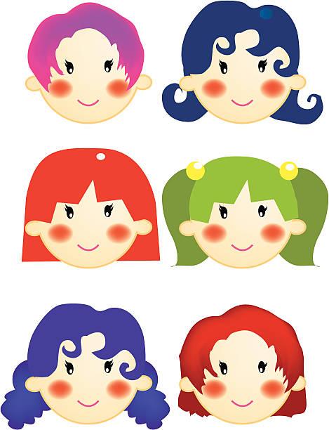 illustrations, cliparts, dessins animés et icônes de les filles - enfants de bande dessinée