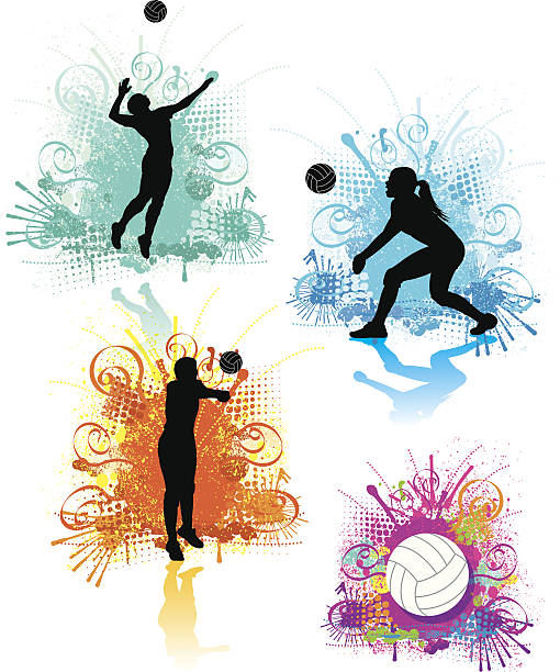 Volley filles Graphics - Illustration vectorielle