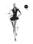 Girl-spray-black