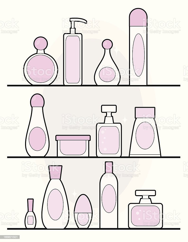 Girly Beauty Products royalty-free girly beauty products stock vector art & more images of bathroom