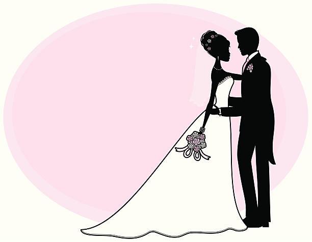 mädchen braut und bräutigam - rosenhochzeitskleider stock-grafiken, -clipart, -cartoons und -symbole
