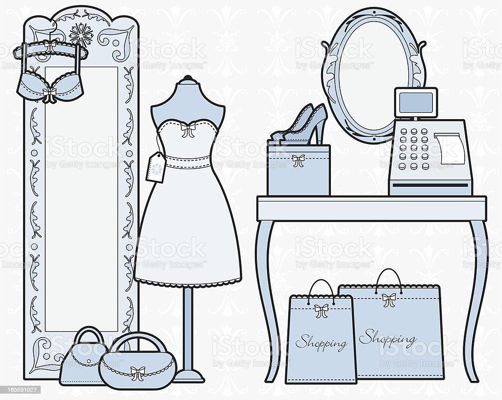 girly mode boutiquen lizenzfreies girly modeboutiquen stock vektor art und mehr bilder von accessoires