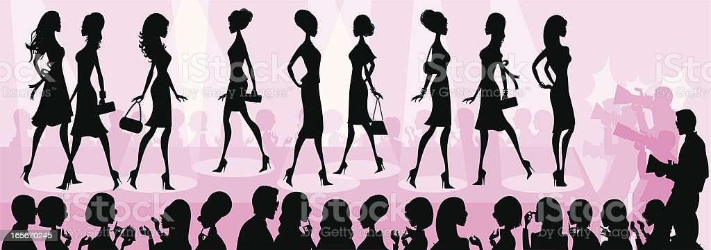 royalty free fashion show clip art vector images illustrations rh istockphoto com spring fashion show clipart fall fashion show clip art