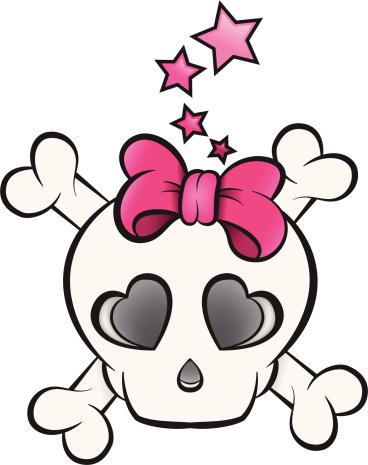 Girly / Girlie Punk Skull