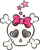 Girly / Girlie Punk Skull