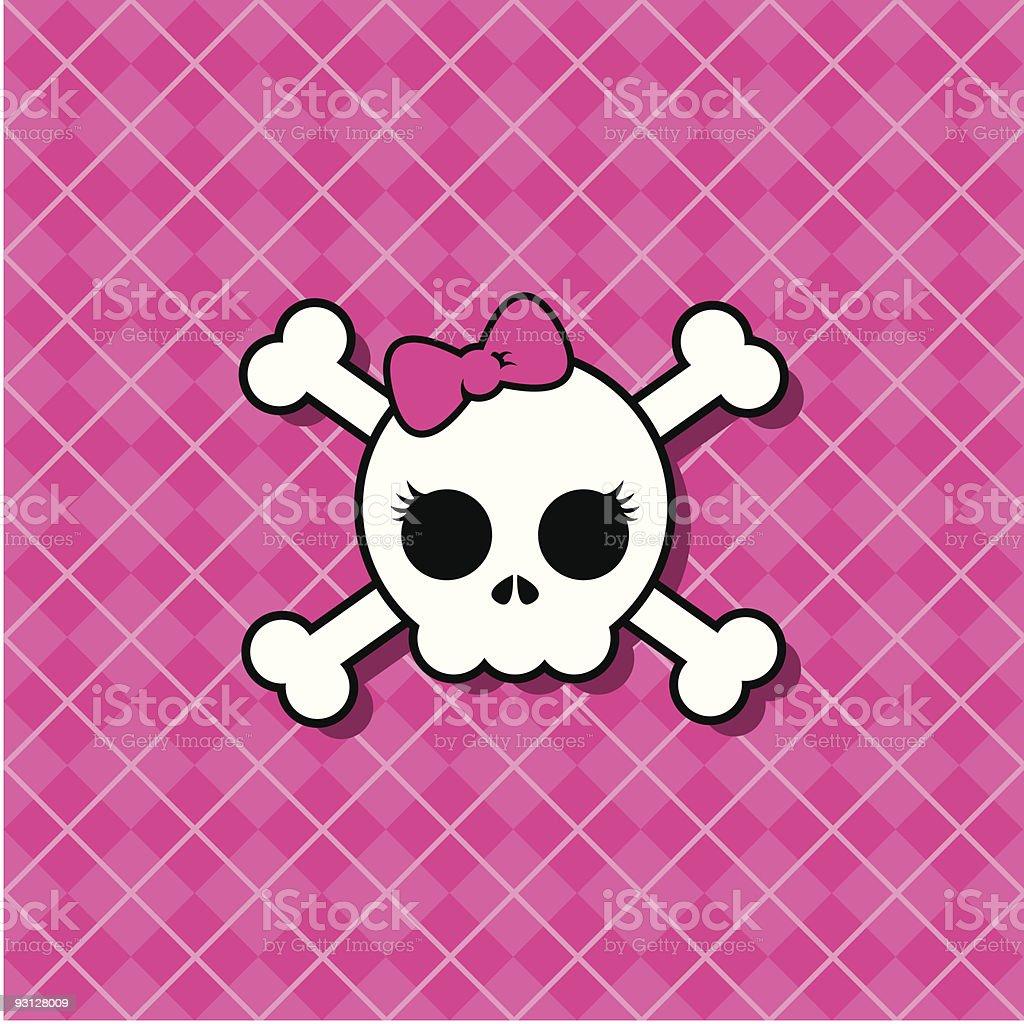 Girly Punk Skull royalty-free girly punk skull stock vector art & more images of adolescence