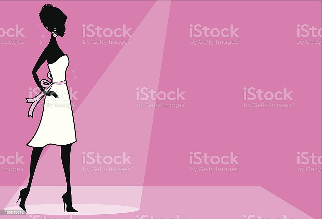 Girly Runway vector art illustration