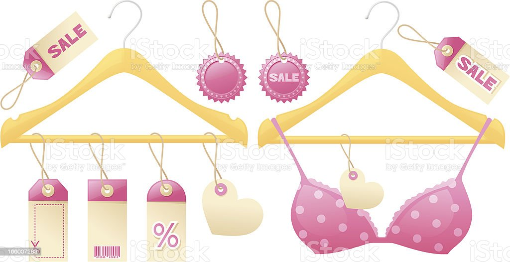 Girly Shopping Hangers royalty-free girly shopping hangers stock vector art & more images of bar code