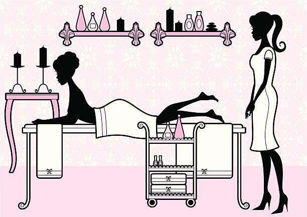 Girly Spa vector art illustration